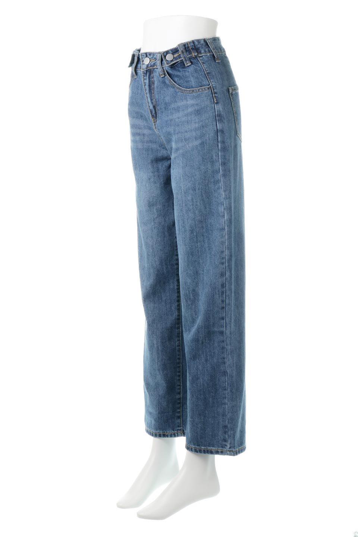 DoubleButtonWideDenimPantsダブルボタン・ワイドデニム大人カジュアルに最適な海外ファッションのothers(その他インポートアイテム)のボトムやパンツ。サイドのボタンで簡単調整できるワイドデニムパンツ。柔らかな生地感が履き心地が良く、しかもコーデにも困らないアイテムです。/main-1