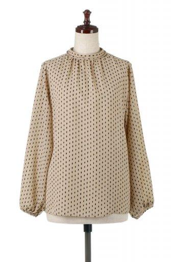 海外ファッションや大人カジュアルに最適なインポートセレクトアイテムの2 Way High Neck Blouse 2ウェイ・ハイネックブラウス