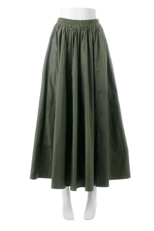 TaffetafabricMaxiFlareSkirtワイドフレア・タフタスカート大人カジュアルに最適な海外ファッションのothers(その他インポートアイテム)のボトムやスカート。上品で控えめな光沢があるタフタ素材を使用したフレアスカート。ウエストから広がるワイドなシルエットで、トップスのボリューム次第で様々な着回しが楽しめます。