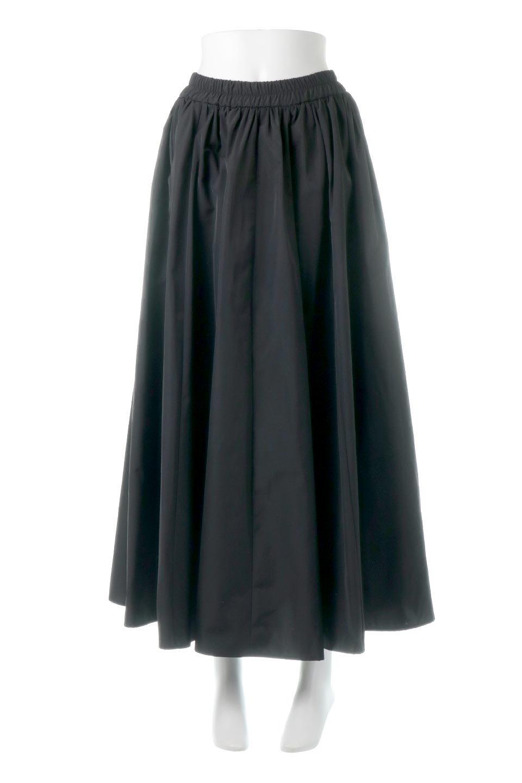 TaffetafabricMaxiFlareSkirtワイドフレア・タフタスカート大人カジュアルに最適な海外ファッションのothers(その他インポートアイテム)のボトムやスカート。上品で控えめな光沢があるタフタ素材を使用したフレアスカート。ウエストから広がるワイドなシルエットで、トップスのボリューム次第で様々な着回しが楽しめます。/main-10
