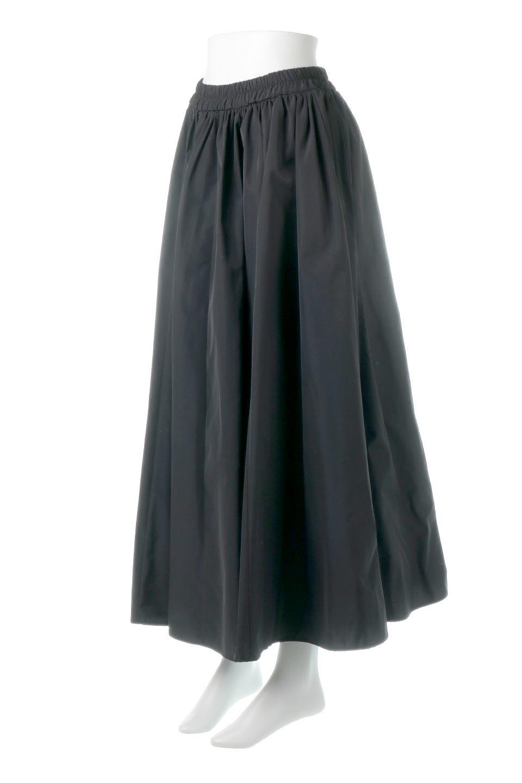 TaffetafabricMaxiFlareSkirtワイドフレア・タフタスカート大人カジュアルに最適な海外ファッションのothers(その他インポートアイテム)のボトムやスカート。上品で控えめな光沢があるタフタ素材を使用したフレアスカート。ウエストから広がるワイドなシルエットで、トップスのボリューム次第で様々な着回しが楽しめます。/main-11