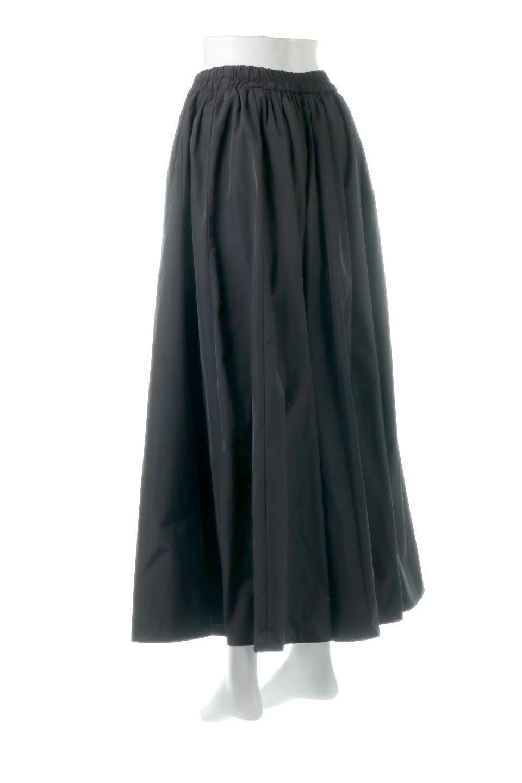 TaffetafabricMaxiFlareSkirtワイドフレア・タフタスカート大人カジュアルに最適な海外ファッションのothers(その他インポートアイテム)のボトムやスカート。上品で控えめな光沢があるタフタ素材を使用したフレアスカート。ウエストから広がるワイドなシルエットで、トップスのボリューム次第で様々な着回しが楽しめます。/main-13