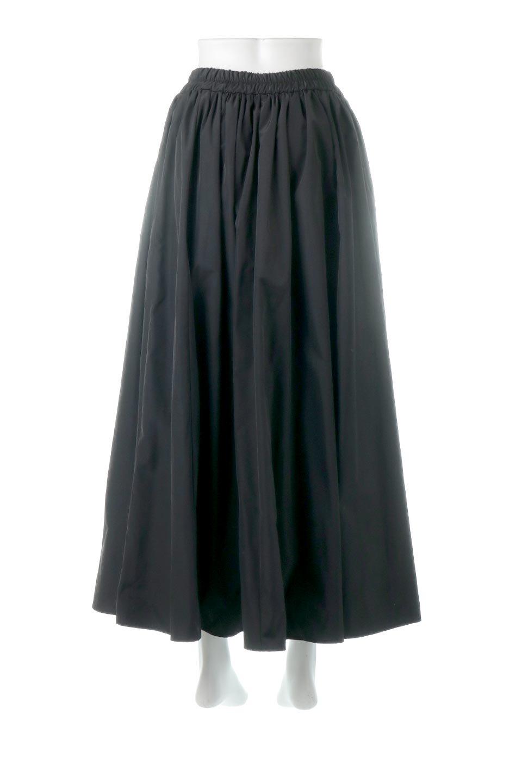 TaffetafabricMaxiFlareSkirtワイドフレア・タフタスカート大人カジュアルに最適な海外ファッションのothers(その他インポートアイテム)のボトムやスカート。上品で控えめな光沢があるタフタ素材を使用したフレアスカート。ウエストから広がるワイドなシルエットで、トップスのボリューム次第で様々な着回しが楽しめます。/main-14