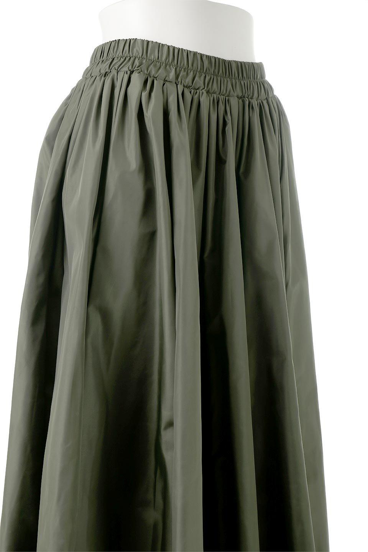 TaffetafabricMaxiFlareSkirtワイドフレア・タフタスカート大人カジュアルに最適な海外ファッションのothers(その他インポートアイテム)のボトムやスカート。上品で控えめな光沢があるタフタ素材を使用したフレアスカート。ウエストから広がるワイドなシルエットで、トップスのボリューム次第で様々な着回しが楽しめます。/main-17