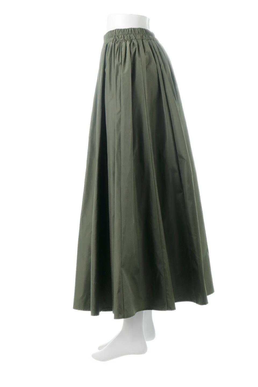 TaffetafabricMaxiFlareSkirtワイドフレア・タフタスカート大人カジュアルに最適な海外ファッションのothers(その他インポートアイテム)のボトムやスカート。上品で控えめな光沢があるタフタ素材を使用したフレアスカート。ウエストから広がるワイドなシルエットで、トップスのボリューム次第で様々な着回しが楽しめます。/main-2