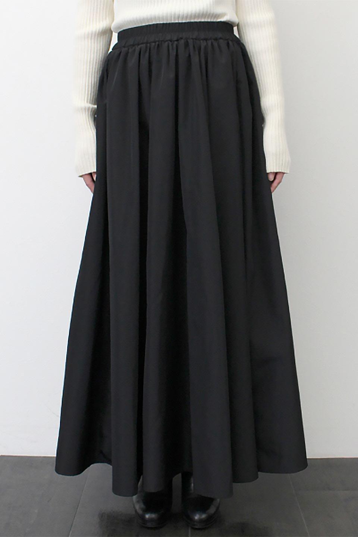 TaffetafabricMaxiFlareSkirtワイドフレア・タフタスカート大人カジュアルに最適な海外ファッションのothers(その他インポートアイテム)のボトムやスカート。上品で控えめな光沢があるタフタ素材を使用したフレアスカート。ウエストから広がるワイドなシルエットで、トップスのボリューム次第で様々な着回しが楽しめます。/main-24