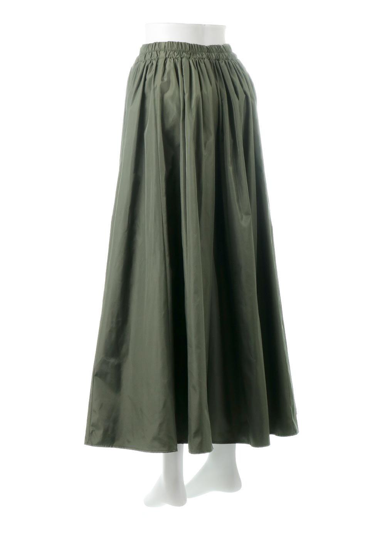 TaffetafabricMaxiFlareSkirtワイドフレア・タフタスカート大人カジュアルに最適な海外ファッションのothers(その他インポートアイテム)のボトムやスカート。上品で控えめな光沢があるタフタ素材を使用したフレアスカート。ウエストから広がるワイドなシルエットで、トップスのボリューム次第で様々な着回しが楽しめます。/main-3