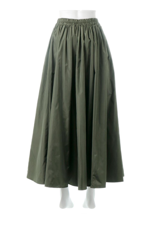 TaffetafabricMaxiFlareSkirtワイドフレア・タフタスカート大人カジュアルに最適な海外ファッションのothers(その他インポートアイテム)のボトムやスカート。上品で控えめな光沢があるタフタ素材を使用したフレアスカート。ウエストから広がるワイドなシルエットで、トップスのボリューム次第で様々な着回しが楽しめます。/main-4
