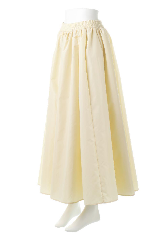 TaffetafabricMaxiFlareSkirtワイドフレア・タフタスカート大人カジュアルに最適な海外ファッションのothers(その他インポートアイテム)のボトムやスカート。上品で控えめな光沢があるタフタ素材を使用したフレアスカート。ウエストから広がるワイドなシルエットで、トップスのボリューム次第で様々な着回しが楽しめます。/main-6