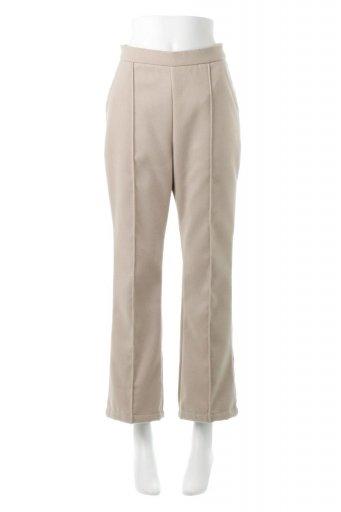 海外ファッションや大人カジュアルに最適なインポートセレクトアイテムのFaux Wool Semi Flare Pants フェイクウール・セミフレアパンツ