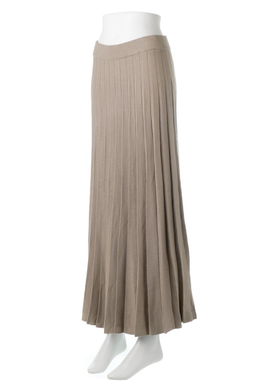 PleatedRibKnitSkirtリブニット・プリーツスカート大人カジュアルに最適な海外ファッションのothers(その他インポートアイテム)のボトムやスカート。清涼感があり、上品な雰囲気なレーヨンナイロンのニットプリーツスカート。リラックス感のあるシルエットで身体にすんなりと馴染んでくれます。/main-1
