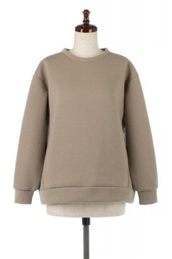海外ファッションや大人カジュアルに最適なインポートセレクトアイテムのBack Zip Pull Over Top 後裾ファスナープルオーバー