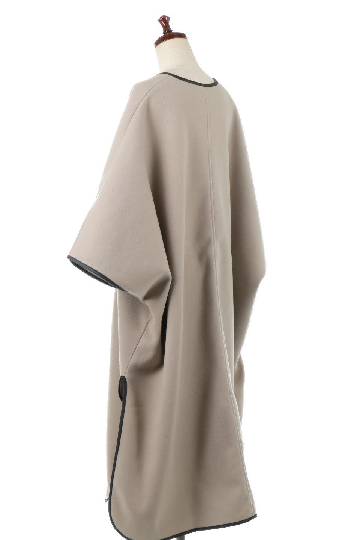 Bi-ColoredPipingOverSizedCoat配色パイピング・ロングコート大人カジュアルに最適な海外ファッションのothers(その他インポートアイテム)のアウターやコート。配色に施されたエコレザーパイピングがポイントになったオーバーサイズのコート。これ一枚で旬顔コーデが完成します。/main-8