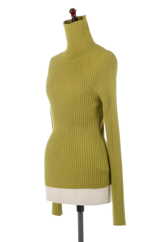 RibKnitTurtleNeckTopリブニット・タートルネック大人カジュアルに最適な海外ファッションのothers(その他インポートアイテム)のトップスやニット・セーター。重ね着に活躍するシンプル・リブタートルニットのトップス。やや長めの袖でクシュッと感が可愛いアイテムです。/main-1