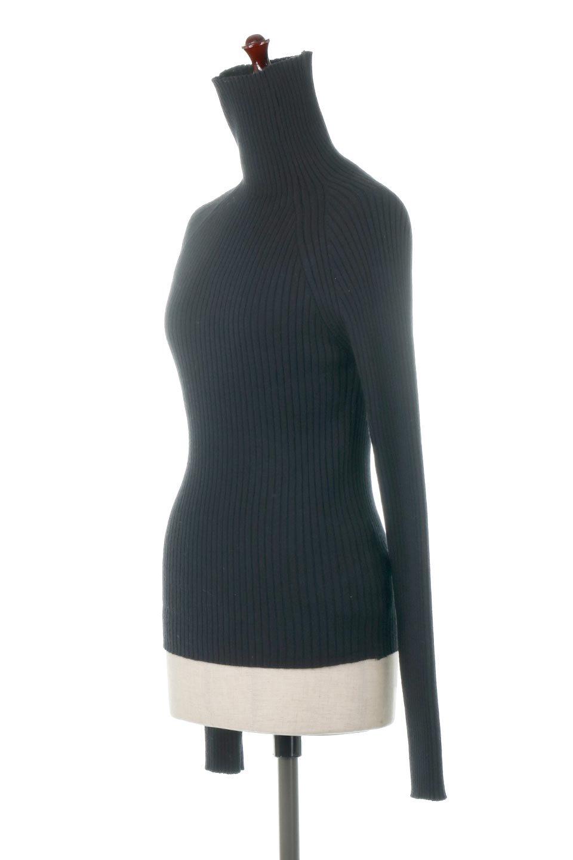 RibKnitTurtleNeckTopリブニット・タートルネック大人カジュアルに最適な海外ファッションのothers(その他インポートアイテム)のトップスやニット・セーター。重ね着に活躍するシンプル・リブタートルニットのトップス。やや長めの袖でクシュッと感が可愛いアイテムです。/main-11