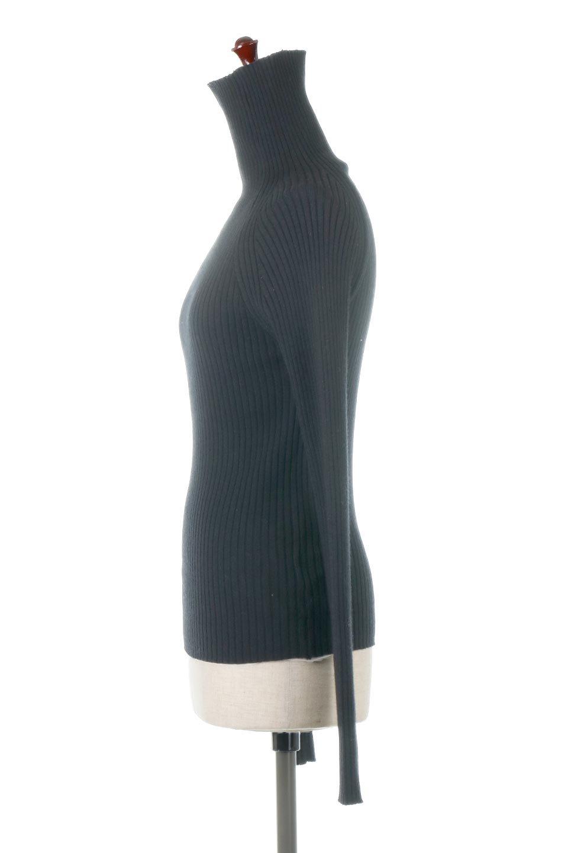 RibKnitTurtleNeckTopリブニット・タートルネック大人カジュアルに最適な海外ファッションのothers(その他インポートアイテム)のトップスやニット・セーター。重ね着に活躍するシンプル・リブタートルニットのトップス。やや長めの袖でクシュッと感が可愛いアイテムです。/main-12