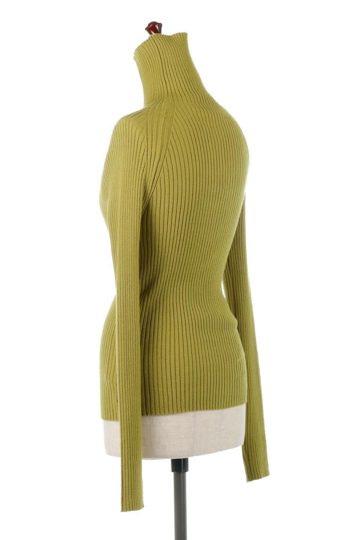 RibKnitTurtleNeckTopリブニット・タートルネック大人カジュアルに最適な海外ファッションのothers(その他インポートアイテム)のトップスやニット・セーター。重ね着に活躍するシンプル・リブタートルニットのトップス。やや長めの袖でクシュッと感が可愛いアイテムです。/main-3