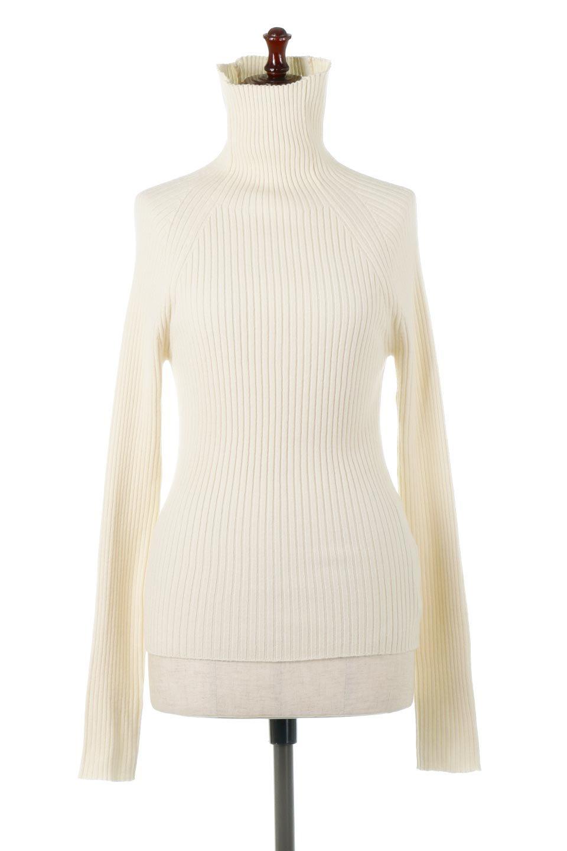 RibKnitTurtleNeckTopリブニット・タートルネック大人カジュアルに最適な海外ファッションのothers(その他インポートアイテム)のトップスやニット・セーター。重ね着に活躍するシンプル・リブタートルニットのトップス。やや長めの袖でクシュッと感が可愛いアイテムです。/main-5