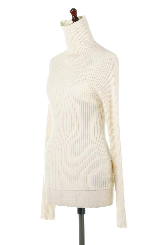 RibKnitTurtleNeckTopリブニット・タートルネック大人カジュアルに最適な海外ファッションのothers(その他インポートアイテム)のトップスやニット・セーター。重ね着に活躍するシンプル・リブタートルニットのトップス。やや長めの袖でクシュッと感が可愛いアイテムです。/main-6