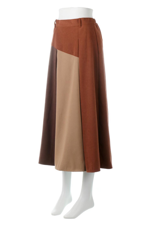 EcoSuedePanelSkirtフェイクスウェード・切り替えスカート大人カジュアルに最適な海外ファッションのothers(その他インポートアイテム)のボトムやスカート。絶妙なカラーリングが目を引くフェイクスウェードの配色ロングスカート。秋冬に欲しくなる色を全て使ったような合わせやすいアイテム。/main-11