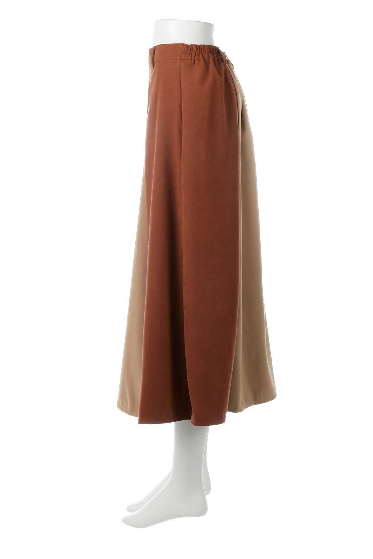 EcoSuedePanelSkirtフェイクスウェード・切り替えスカート大人カジュアルに最適な海外ファッションのothers(その他インポートアイテム)のボトムやスカート。絶妙なカラーリングが目を引くフェイクスウェードの配色ロングスカート。秋冬に欲しくなる色を全て使ったような合わせやすいアイテム。/main-12