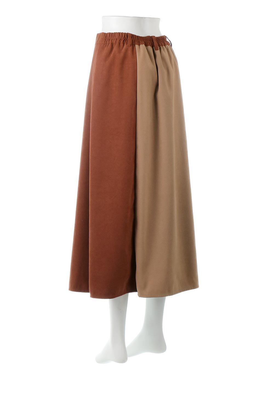 EcoSuedePanelSkirtフェイクスウェード・切り替えスカート大人カジュアルに最適な海外ファッションのothers(その他インポートアイテム)のボトムやスカート。絶妙なカラーリングが目を引くフェイクスウェードの配色ロングスカート。秋冬に欲しくなる色を全て使ったような合わせやすいアイテム。/main-13