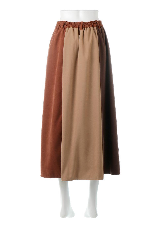 EcoSuedePanelSkirtフェイクスウェード・切り替えスカート大人カジュアルに最適な海外ファッションのothers(その他インポートアイテム)のボトムやスカート。絶妙なカラーリングが目を引くフェイクスウェードの配色ロングスカート。秋冬に欲しくなる色を全て使ったような合わせやすいアイテム。/main-14