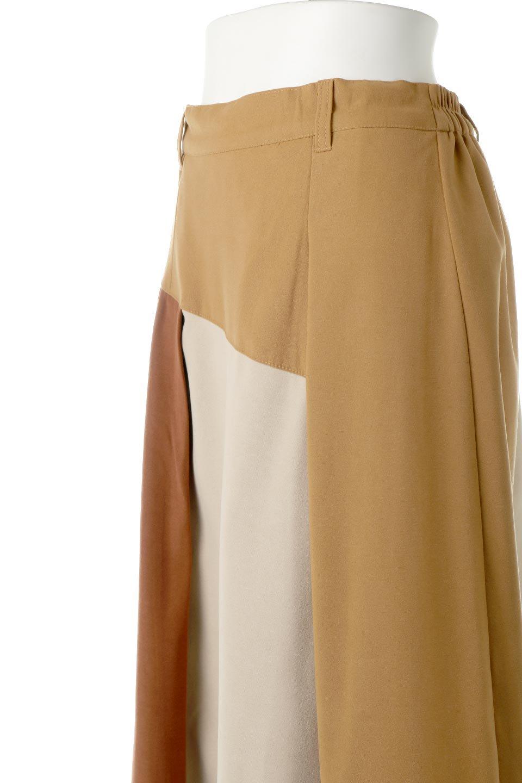 EcoSuedePanelSkirtフェイクスウェード・切り替えスカート大人カジュアルに最適な海外ファッションのothers(その他インポートアイテム)のボトムやスカート。絶妙なカラーリングが目を引くフェイクスウェードの配色ロングスカート。秋冬に欲しくなる色を全て使ったような合わせやすいアイテム。/main-15
