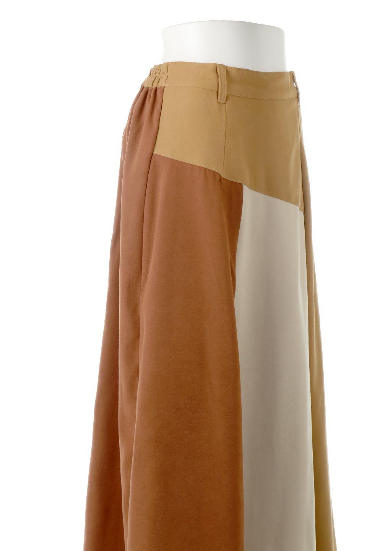 EcoSuedePanelSkirtフェイクスウェード・切り替えスカート大人カジュアルに最適な海外ファッションのothers(その他インポートアイテム)のボトムやスカート。絶妙なカラーリングが目を引くフェイクスウェードの配色ロングスカート。秋冬に欲しくなる色を全て使ったような合わせやすいアイテム。/main-16