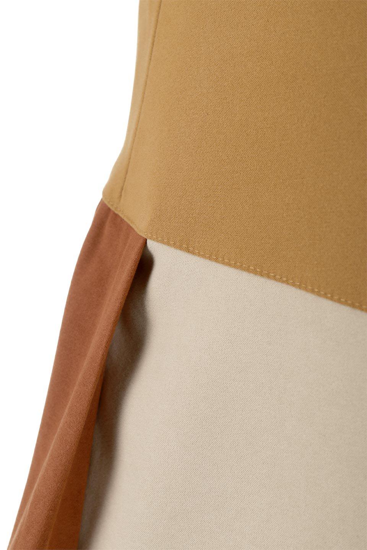 EcoSuedePanelSkirtフェイクスウェード・切り替えスカート大人カジュアルに最適な海外ファッションのothers(その他インポートアイテム)のボトムやスカート。絶妙なカラーリングが目を引くフェイクスウェードの配色ロングスカート。秋冬に欲しくなる色を全て使ったような合わせやすいアイテム。/main-17