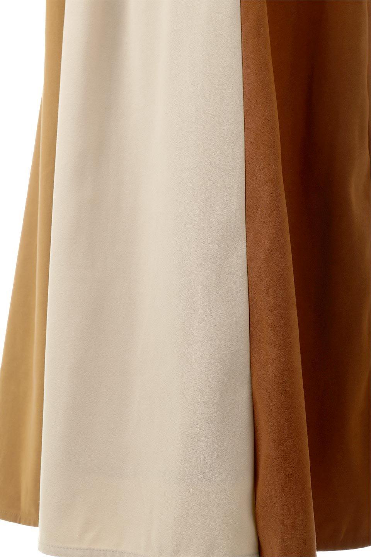 EcoSuedePanelSkirtフェイクスウェード・切り替えスカート大人カジュアルに最適な海外ファッションのothers(その他インポートアイテム)のボトムやスカート。絶妙なカラーリングが目を引くフェイクスウェードの配色ロングスカート。秋冬に欲しくなる色を全て使ったような合わせやすいアイテム。/main-19