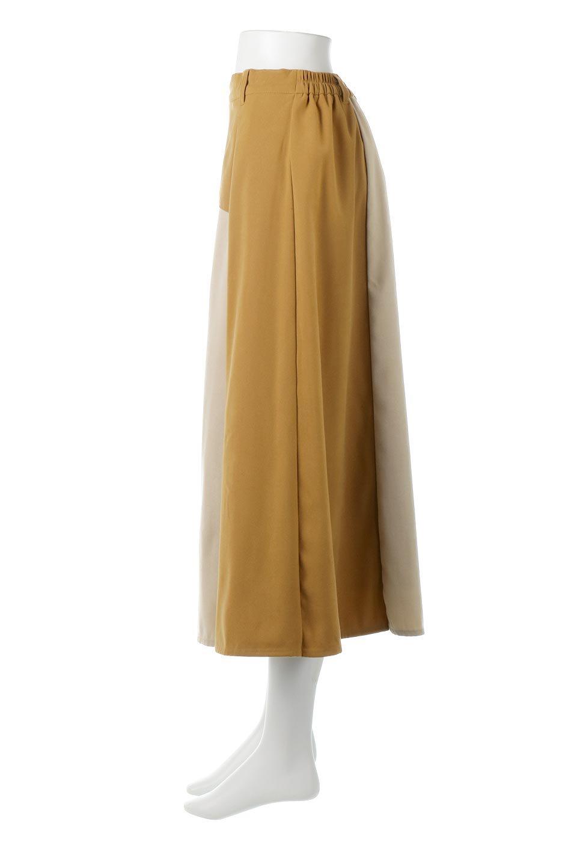 EcoSuedePanelSkirtフェイクスウェード・切り替えスカート大人カジュアルに最適な海外ファッションのothers(その他インポートアイテム)のボトムやスカート。絶妙なカラーリングが目を引くフェイクスウェードの配色ロングスカート。秋冬に欲しくなる色を全て使ったような合わせやすいアイテム。/main-2