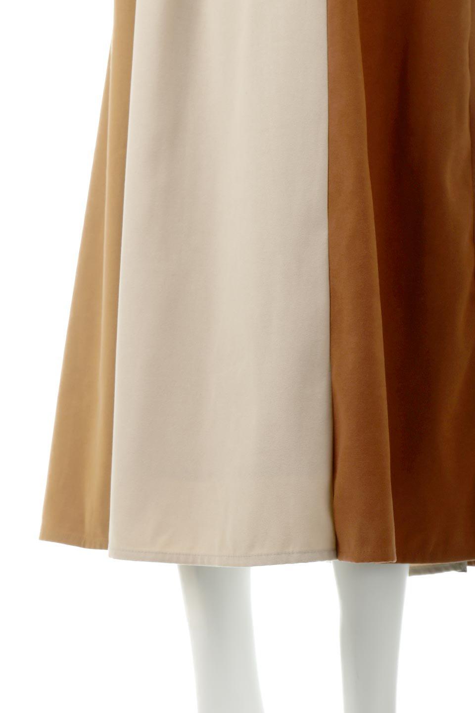 EcoSuedePanelSkirtフェイクスウェード・切り替えスカート大人カジュアルに最適な海外ファッションのothers(その他インポートアイテム)のボトムやスカート。絶妙なカラーリングが目を引くフェイクスウェードの配色ロングスカート。秋冬に欲しくなる色を全て使ったような合わせやすいアイテム。/main-20