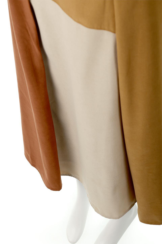 EcoSuedePanelSkirtフェイクスウェード・切り替えスカート大人カジュアルに最適な海外ファッションのothers(その他インポートアイテム)のボトムやスカート。絶妙なカラーリングが目を引くフェイクスウェードの配色ロングスカート。秋冬に欲しくなる色を全て使ったような合わせやすいアイテム。/main-21