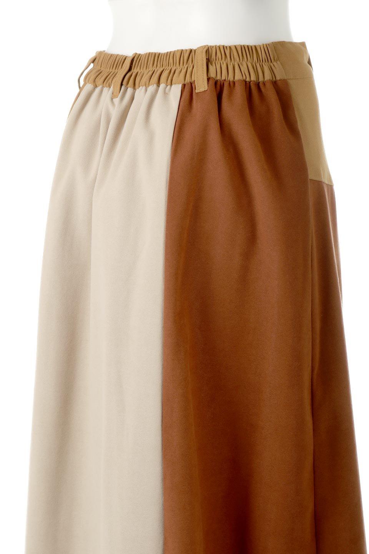 EcoSuedePanelSkirtフェイクスウェード・切り替えスカート大人カジュアルに最適な海外ファッションのothers(その他インポートアイテム)のボトムやスカート。絶妙なカラーリングが目を引くフェイクスウェードの配色ロングスカート。秋冬に欲しくなる色を全て使ったような合わせやすいアイテム。/main-24