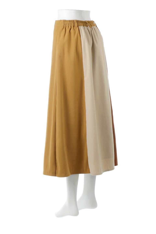 EcoSuedePanelSkirtフェイクスウェード・切り替えスカート大人カジュアルに最適な海外ファッションのothers(その他インポートアイテム)のボトムやスカート。絶妙なカラーリングが目を引くフェイクスウェードの配色ロングスカート。秋冬に欲しくなる色を全て使ったような合わせやすいアイテム。/main-3