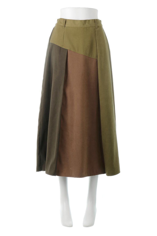 EcoSuedePanelSkirtフェイクスウェード・切り替えスカート大人カジュアルに最適な海外ファッションのothers(その他インポートアイテム)のボトムやスカート。絶妙なカラーリングが目を引くフェイクスウェードの配色ロングスカート。秋冬に欲しくなる色を全て使ったような合わせやすいアイテム。/main-5