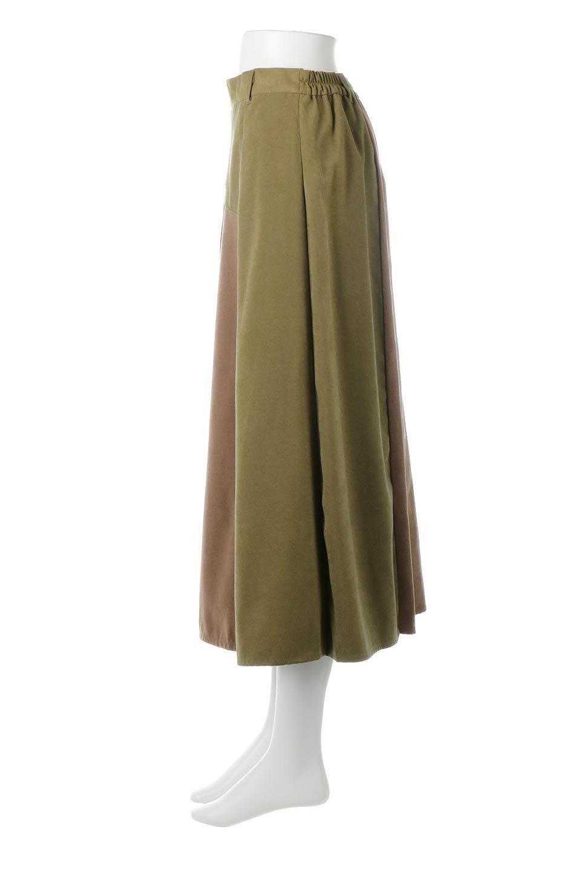 EcoSuedePanelSkirtフェイクスウェード・切り替えスカート大人カジュアルに最適な海外ファッションのothers(その他インポートアイテム)のボトムやスカート。絶妙なカラーリングが目を引くフェイクスウェードの配色ロングスカート。秋冬に欲しくなる色を全て使ったような合わせやすいアイテム。/main-7