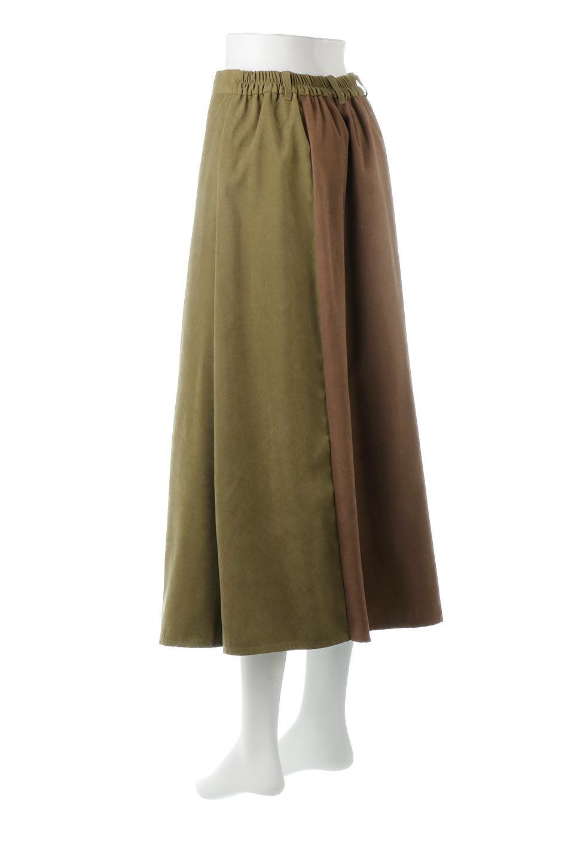 EcoSuedePanelSkirtフェイクスウェード・切り替えスカート大人カジュアルに最適な海外ファッションのothers(その他インポートアイテム)のボトムやスカート。絶妙なカラーリングが目を引くフェイクスウェードの配色ロングスカート。秋冬に欲しくなる色を全て使ったような合わせやすいアイテム。/main-8