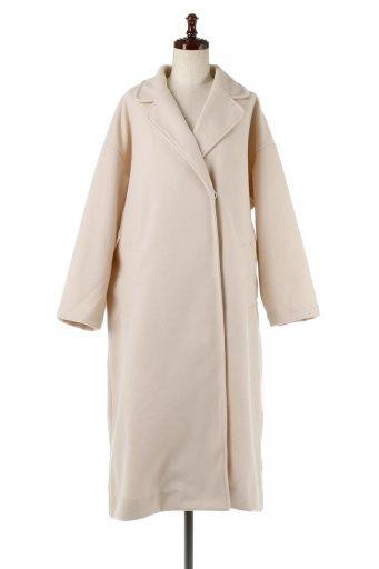 海外ファッションや大人カジュアルに最適なインポートセレクトアイテムのEco Wool Over  Sized Long Coat フェイクウール・オーバーサイズコート