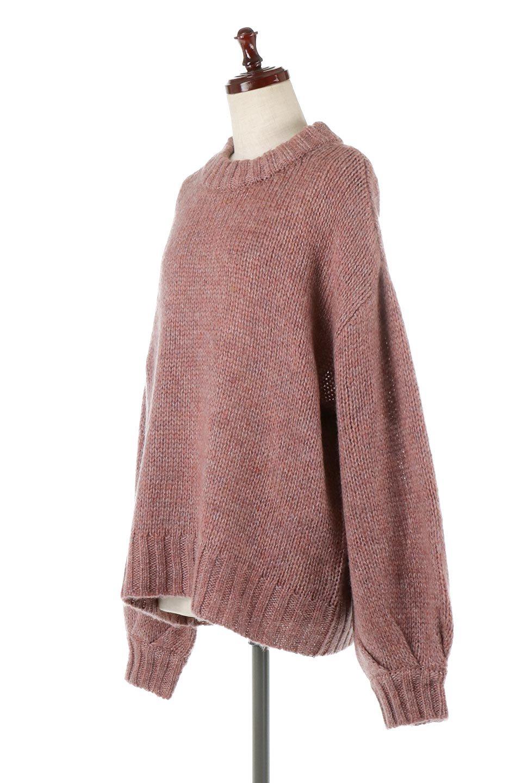 FauxMohairKnitPullOverTopモヘアタッチ・ニットプルオーバー大人カジュアルに最適な海外ファッションのothers(その他インポートアイテム)のトップスやニット・セーター。モヘアのような優しい触り心地のセーター。首元、袖口にはボリュームのあるリブニットデザインで温かみを感じるデザイン。/main-1
