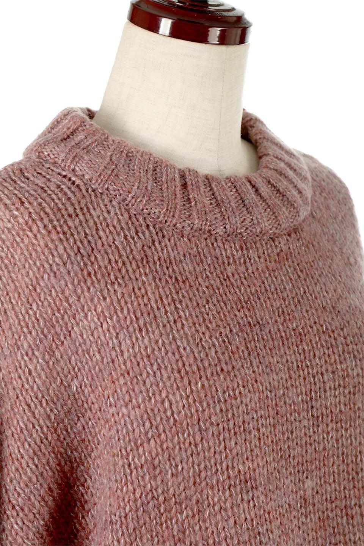 FauxMohairKnitPullOverTopモヘアタッチ・ニットプルオーバー大人カジュアルに最適な海外ファッションのothers(その他インポートアイテム)のトップスやニット・セーター。モヘアのような優しい触り心地のセーター。首元、袖口にはボリュームのあるリブニットデザインで温かみを感じるデザイン。/main-10