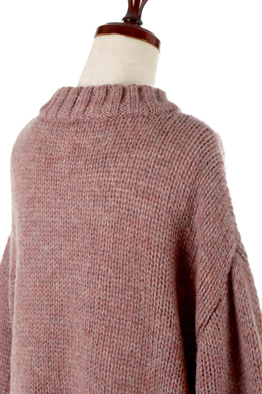 FauxMohairKnitPullOverTopモヘアタッチ・ニットプルオーバー大人カジュアルに最適な海外ファッションのothers(その他インポートアイテム)のトップスやニット・セーター。モヘアのような優しい触り心地のセーター。首元、袖口にはボリュームのあるリブニットデザインで温かみを感じるデザイン。/main-11