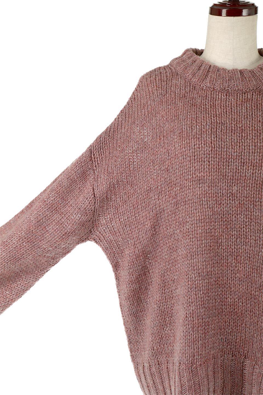 FauxMohairKnitPullOverTopモヘアタッチ・ニットプルオーバー大人カジュアルに最適な海外ファッションのothers(その他インポートアイテム)のトップスやニット・セーター。モヘアのような優しい触り心地のセーター。首元、袖口にはボリュームのあるリブニットデザインで温かみを感じるデザイン。/main-13