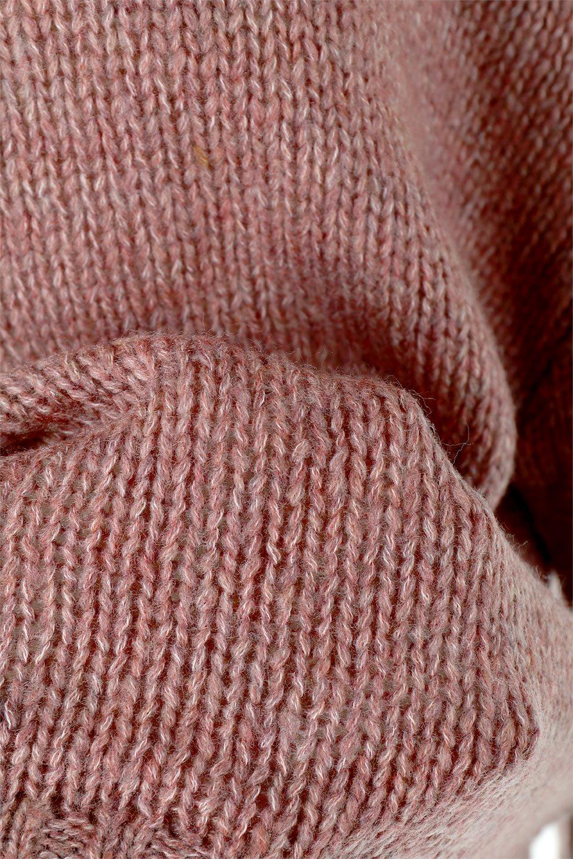 FauxMohairKnitPullOverTopモヘアタッチ・ニットプルオーバー大人カジュアルに最適な海外ファッションのothers(その他インポートアイテム)のトップスやニット・セーター。モヘアのような優しい触り心地のセーター。首元、袖口にはボリュームのあるリブニットデザインで温かみを感じるデザイン。/main-18