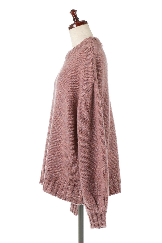 FauxMohairKnitPullOverTopモヘアタッチ・ニットプルオーバー大人カジュアルに最適な海外ファッションのothers(その他インポートアイテム)のトップスやニット・セーター。モヘアのような優しい触り心地のセーター。首元、袖口にはボリュームのあるリブニットデザインで温かみを感じるデザイン。/main-2