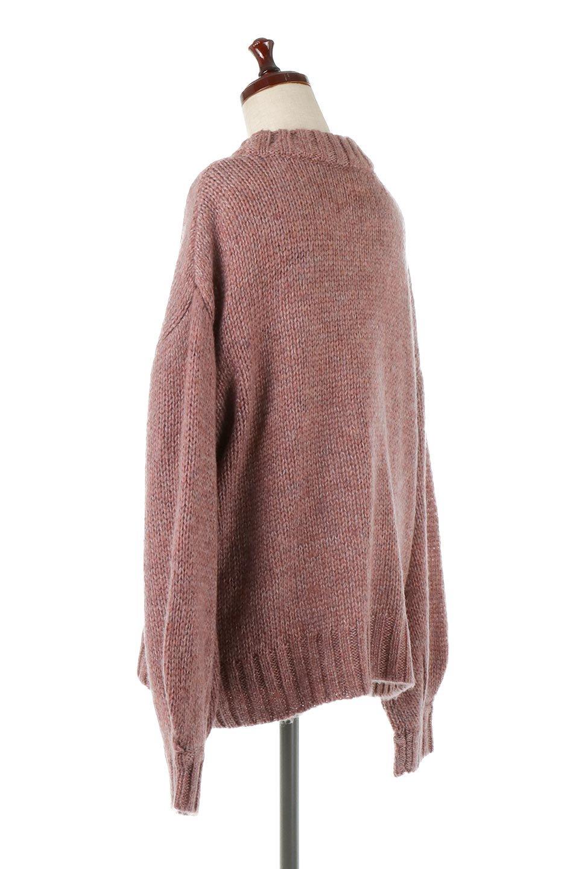 FauxMohairKnitPullOverTopモヘアタッチ・ニットプルオーバー大人カジュアルに最適な海外ファッションのothers(その他インポートアイテム)のトップスやニット・セーター。モヘアのような優しい触り心地のセーター。首元、袖口にはボリュームのあるリブニットデザインで温かみを感じるデザイン。/main-3