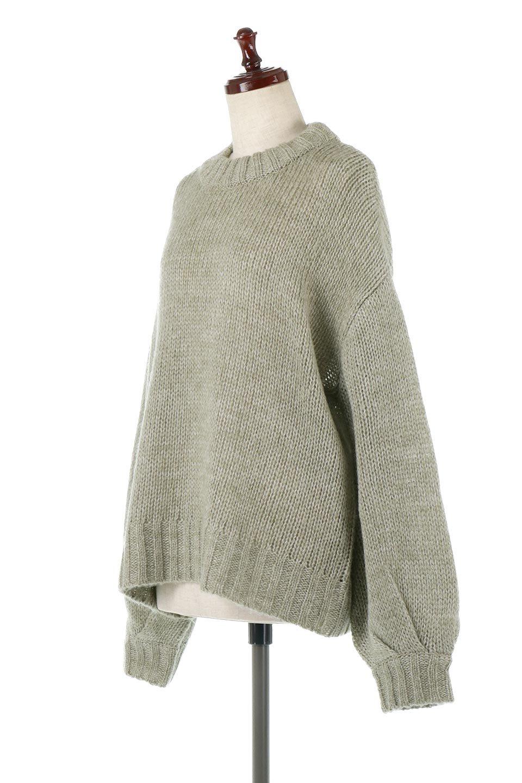 FauxMohairKnitPullOverTopモヘアタッチ・ニットプルオーバー大人カジュアルに最適な海外ファッションのothers(その他インポートアイテム)のトップスやニット・セーター。モヘアのような優しい触り心地のセーター。首元、袖口にはボリュームのあるリブニットデザインで温かみを感じるデザイン。/main-6