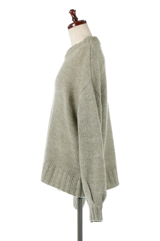 FauxMohairKnitPullOverTopモヘアタッチ・ニットプルオーバー大人カジュアルに最適な海外ファッションのothers(その他インポートアイテム)のトップスやニット・セーター。モヘアのような優しい触り心地のセーター。首元、袖口にはボリュームのあるリブニットデザインで温かみを感じるデザイン。/main-7