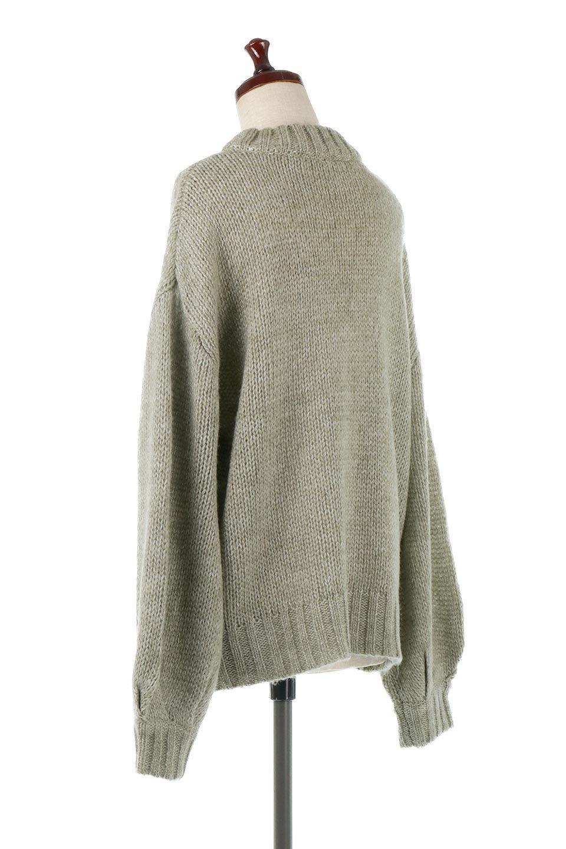 FauxMohairKnitPullOverTopモヘアタッチ・ニットプルオーバー大人カジュアルに最適な海外ファッションのothers(その他インポートアイテム)のトップスやニット・セーター。モヘアのような優しい触り心地のセーター。首元、袖口にはボリュームのあるリブニットデザインで温かみを感じるデザイン。/main-8
